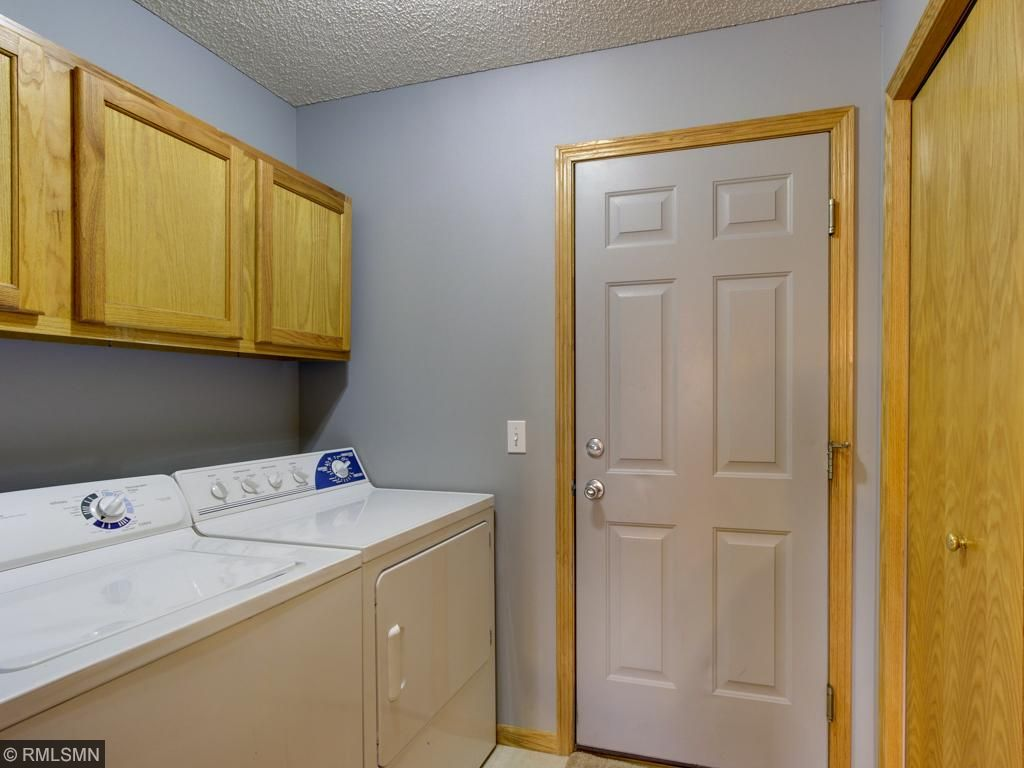 Main floor laundry with double closet