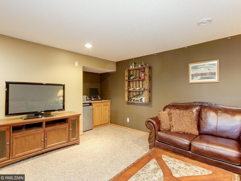 Lower level family room plumbed for wet bar