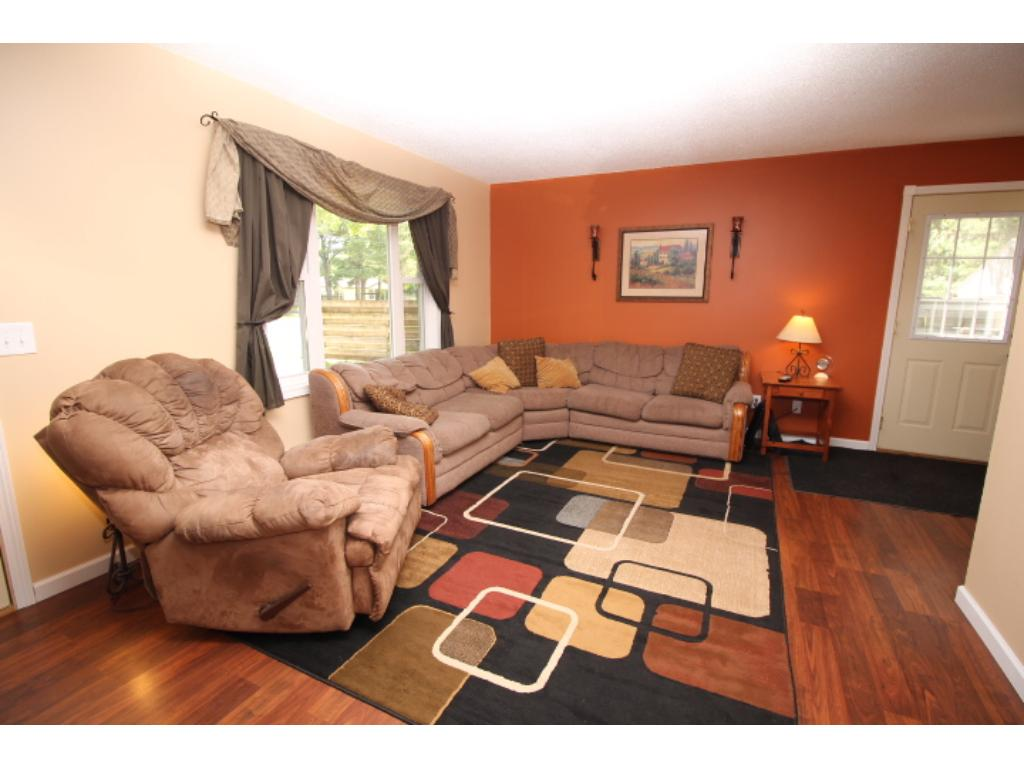 Informal dining area offers a place to grab a quick meal and be open to the living room.