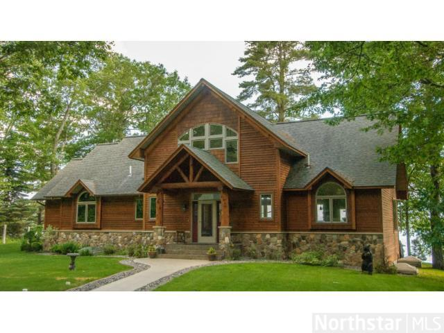 Over 4000 square feet of living space in this beautiful cedar sided home on Gull Lake