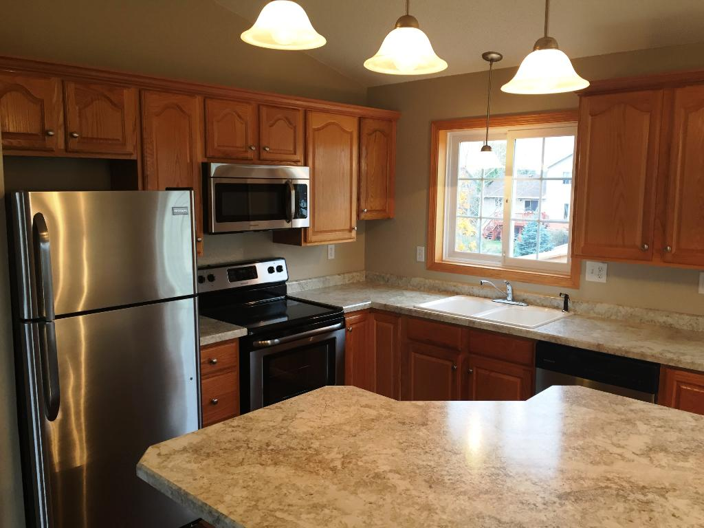 Beautiful new stainless steel appliances