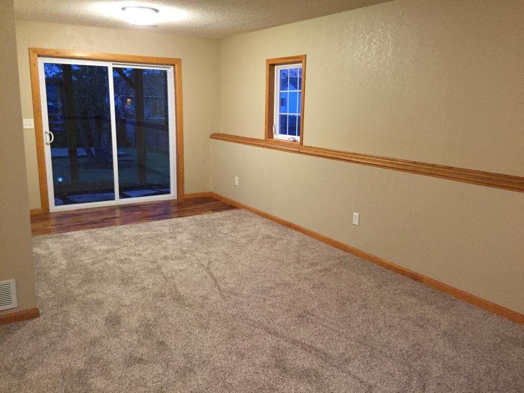 Lower level family room w/ walk out to back yard.  New Carpet too