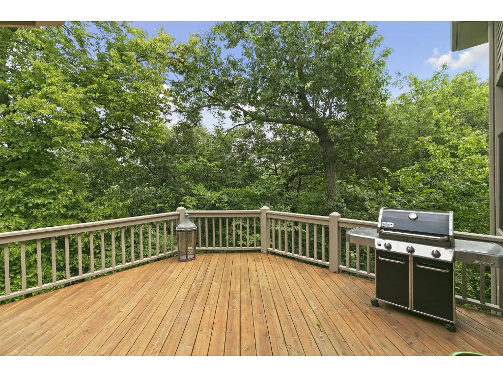 There are decks off the main floor and Lower Level of the house, offering additional areas to entertain or enjoy the serene setting.