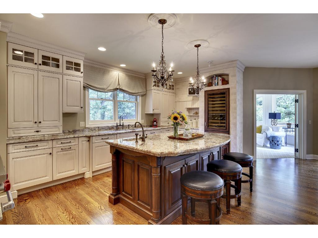 This Kitchen was remodeled in 2009. Designed by Belle Design & Build / IMS it was taken down to the studs for a complete renovation. The Kitchen is truly the heart of this home.