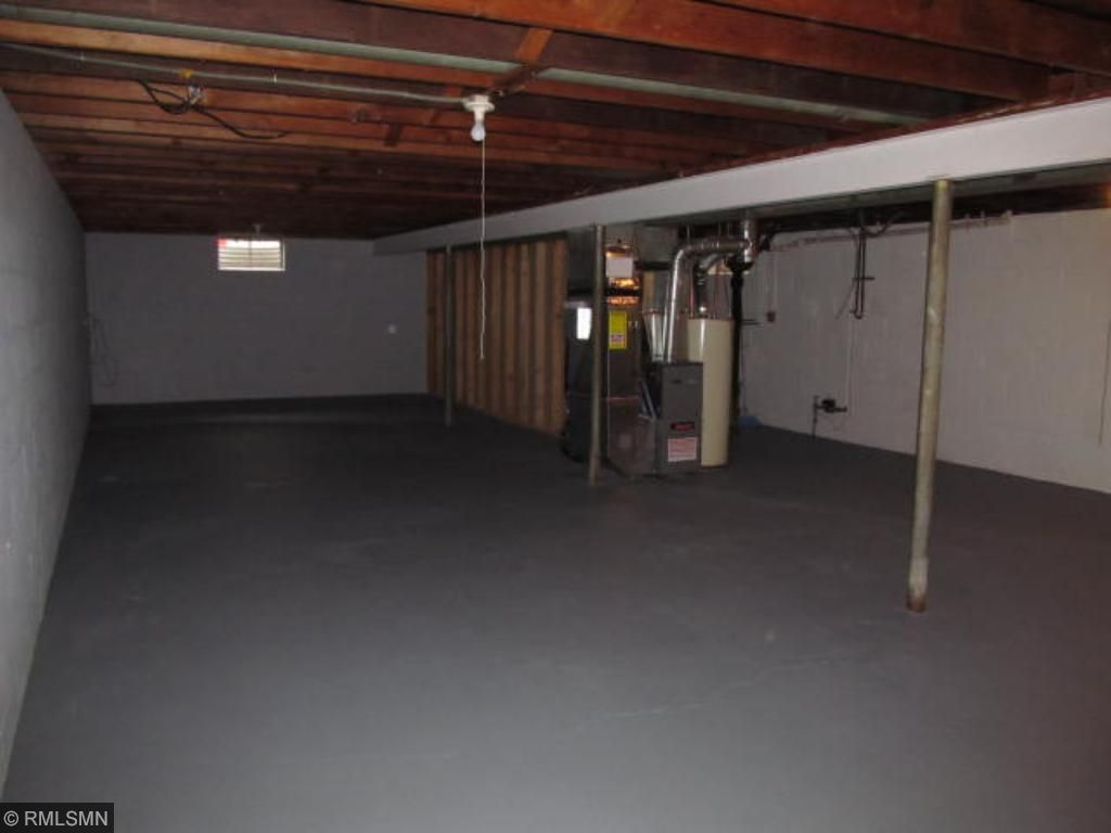 Super clean basement is ready for finishing!