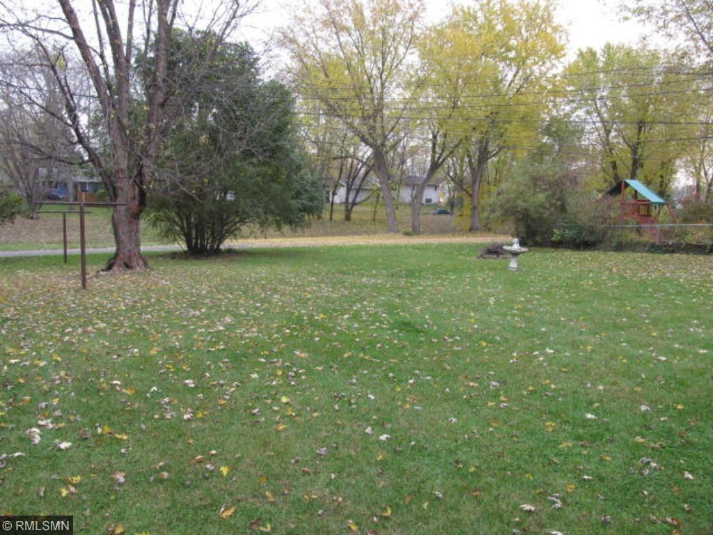 Back yard overlooks walking/hiking/biking trail.