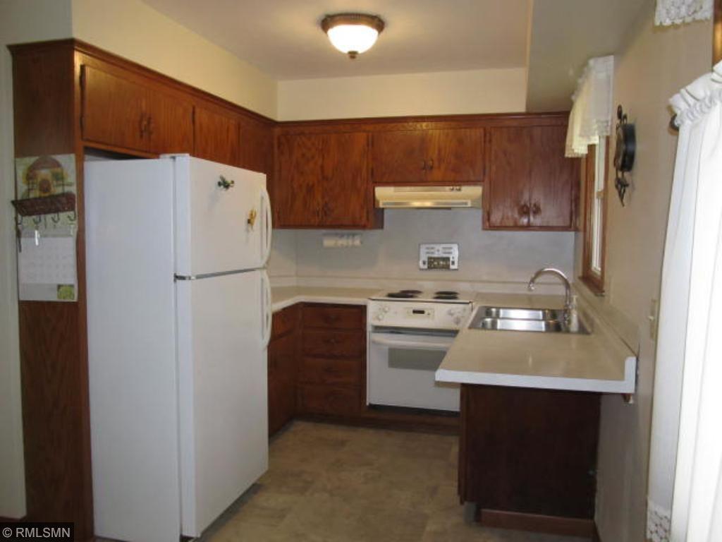 Kitchen offers new vinyl flooring.