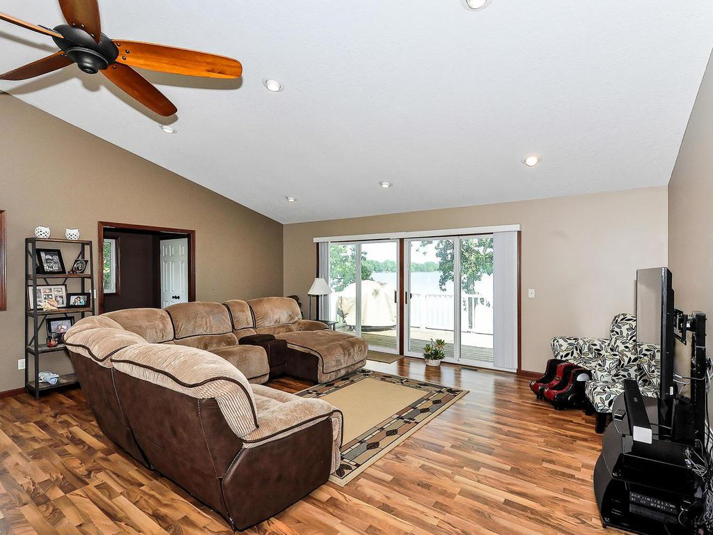 Family Room Has Access to Large Deck from the extra Large Sliding Glass Doors!