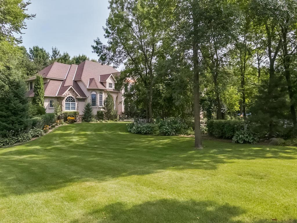 Privacy surrounds on this 3.1 acre wooded lot.