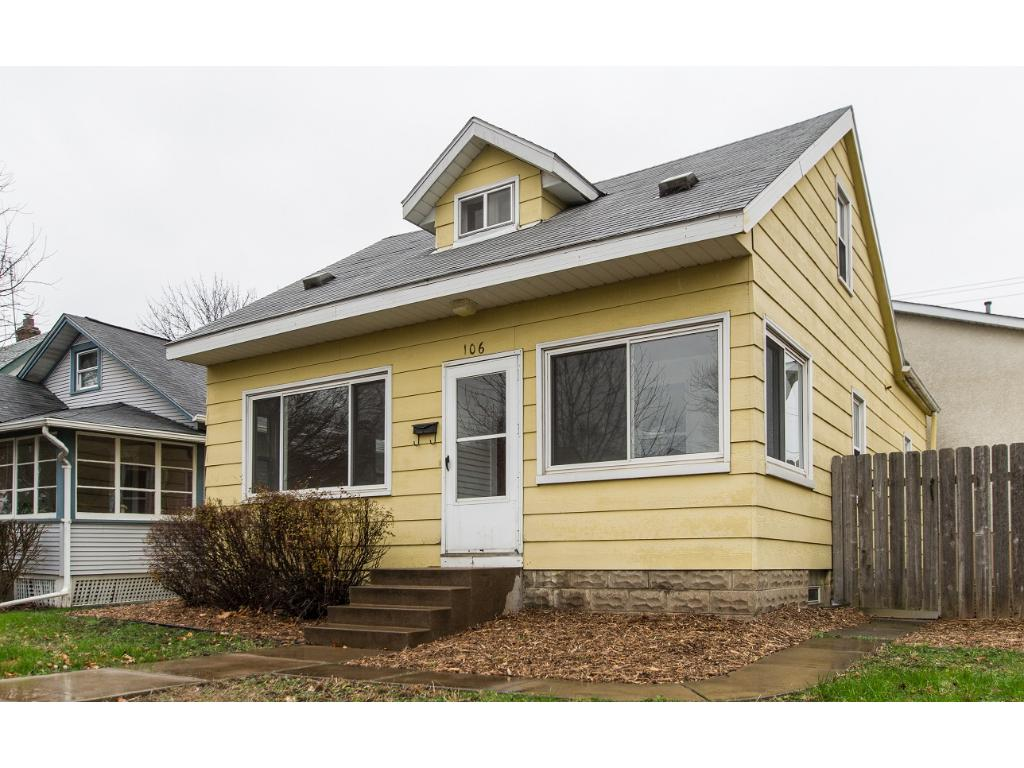 Updated & affordable 4 bed home with 5+ car 2,100sf heated garage/shop! Central air in house!!!