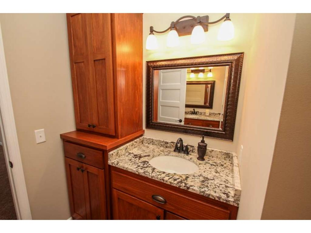 Master Bath has His and Hers cabinets and sinks