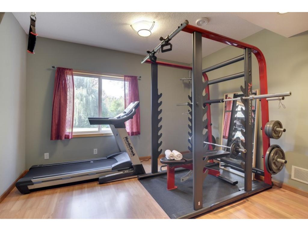 Last, but not least - a 5th bedroom, currently used as a gym.  We all love versatility!  Work out & enjoy the views