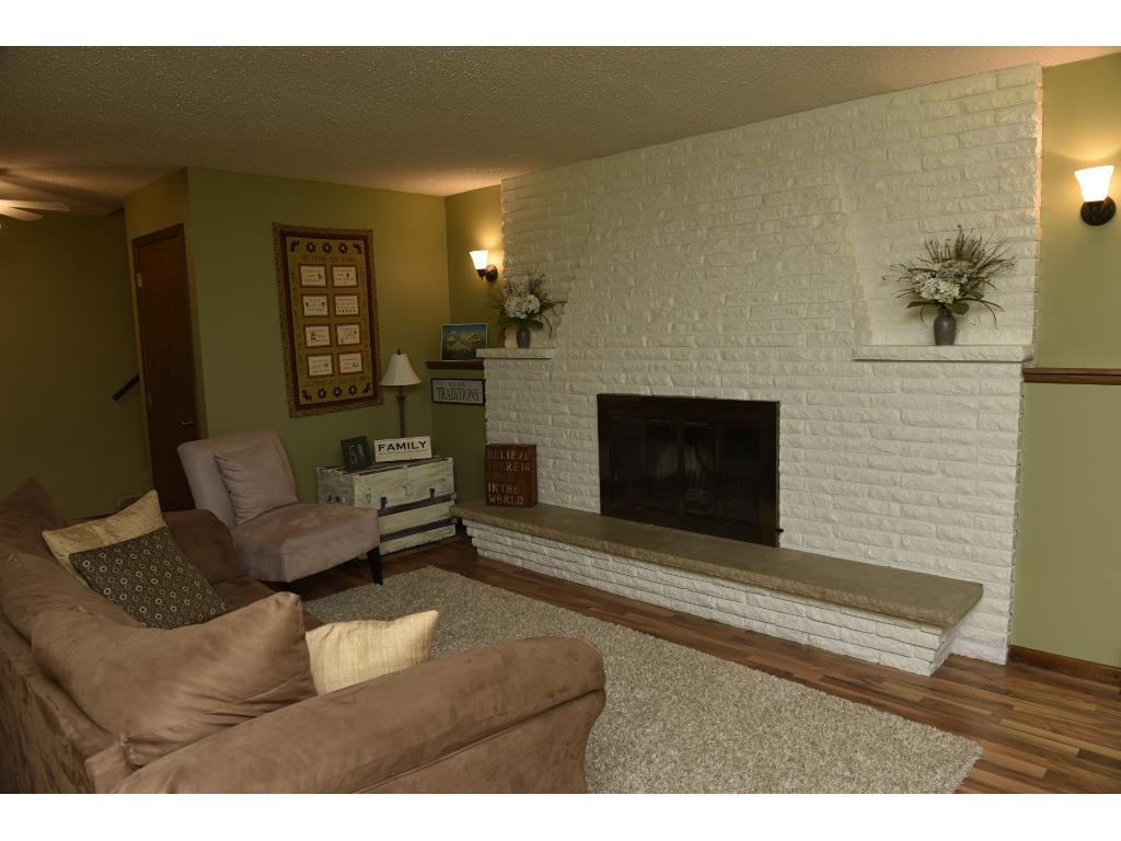 It is so quiet and comfortable in this home.  With the option of having a wood burning fireplace (or maybe turning it into a gas fireplace some day?)...this family room is cozy and warm.