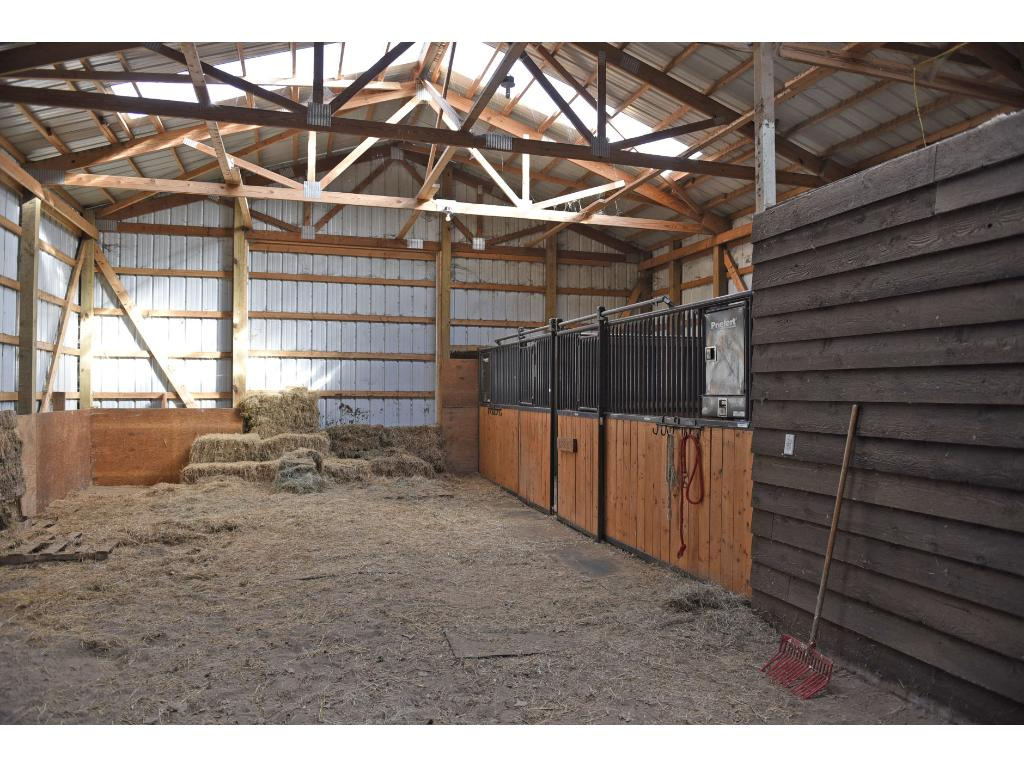 Plenty of space in this barn and there is also an insulated tack room.