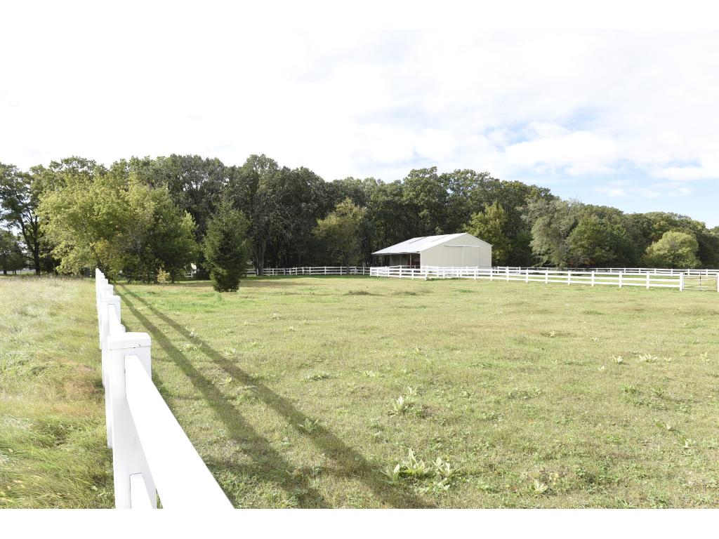 View of the barn from the pasture.