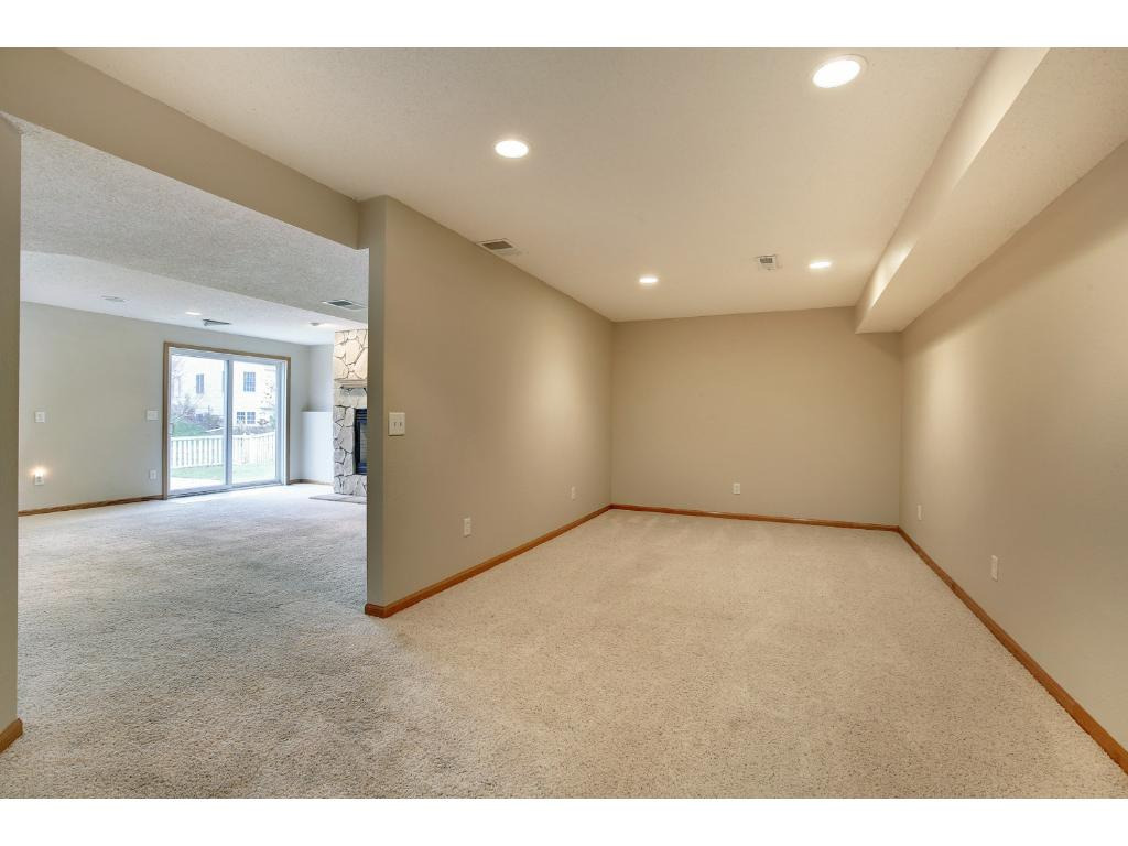Terrific sized finished basement; this room could be used as a media room