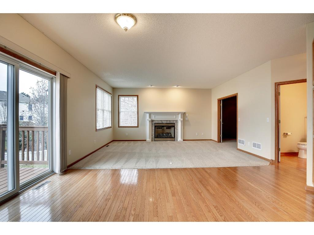 Nice large family room right off kitchen creates a great open space for hanging out together
