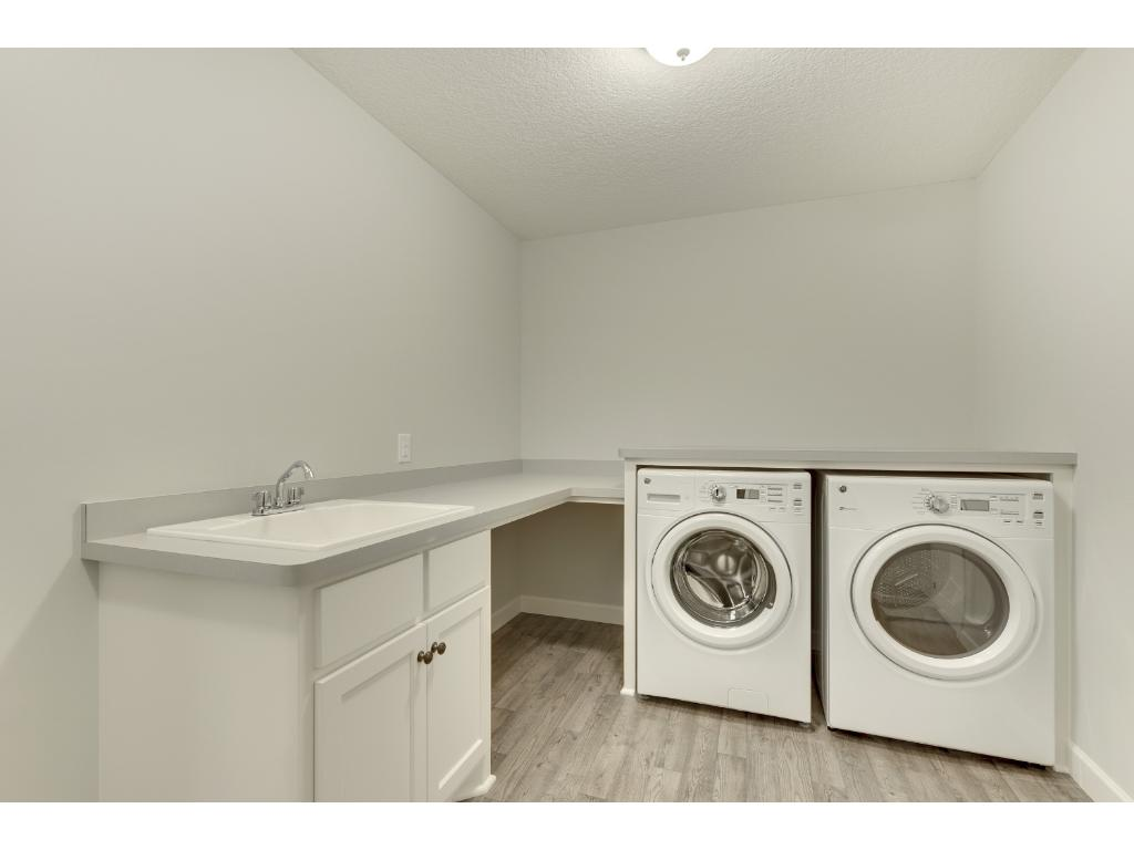 Having the laundry room near all the upper level bedrooms makes laundry day a little bit easier.