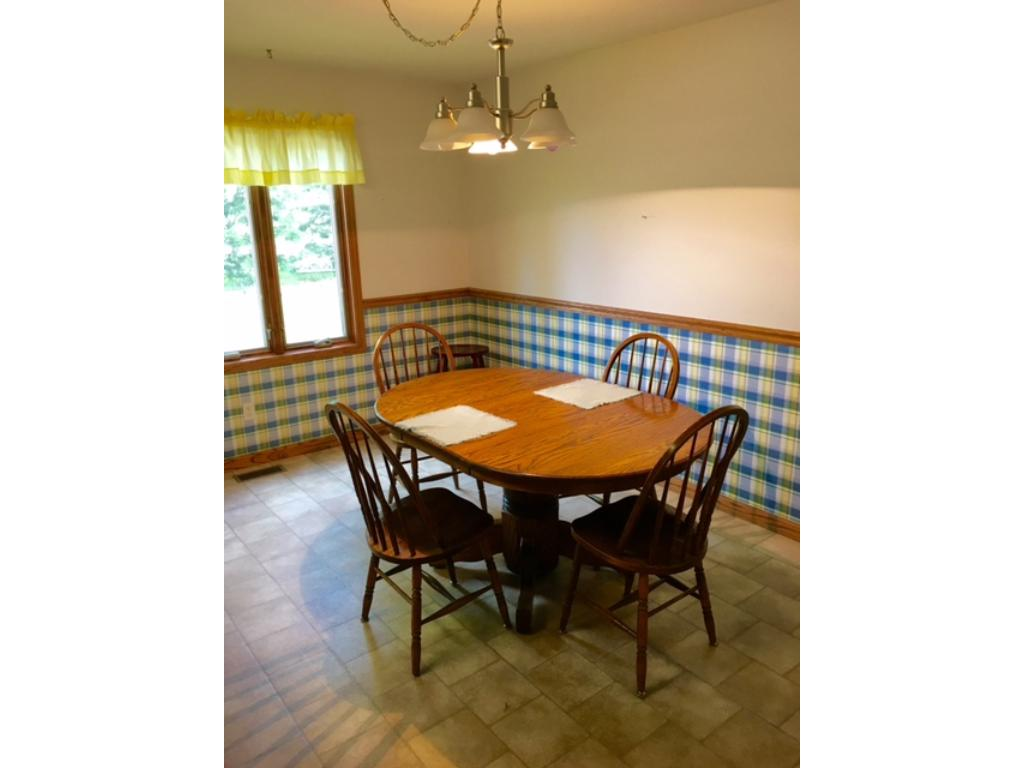 Ample dining space.