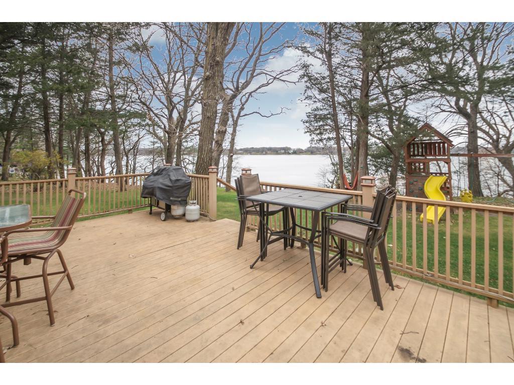 Spacious lakeside deck