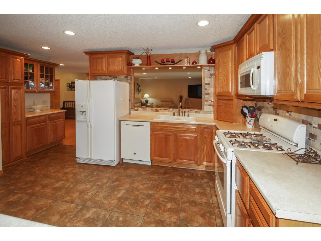 Beautiful kitchen with lots of storage and counter space.