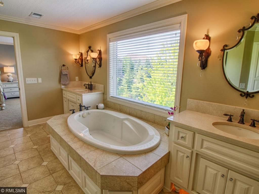 Spa-like Master Bath is so relaxing ... complete with heated floor!