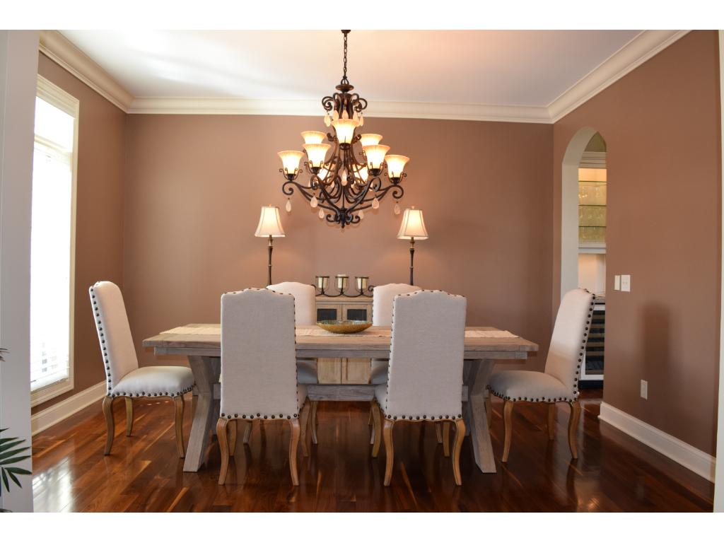 Formal dining room is perfect for those large family gatherings.  Butler's stand between the kitchen and dining room makes entertaining a breeze!