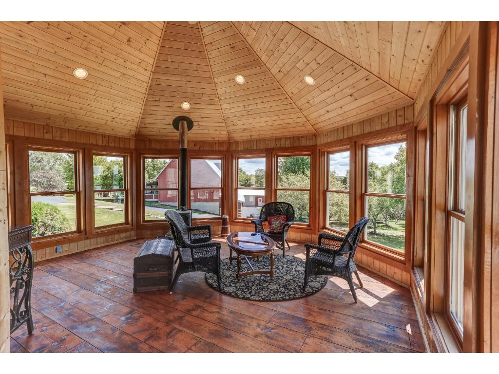 Lakeside Porch/Sun Room Features Wood Burning Stove