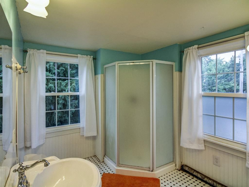 Large 3/4 bath on upper level of the home.