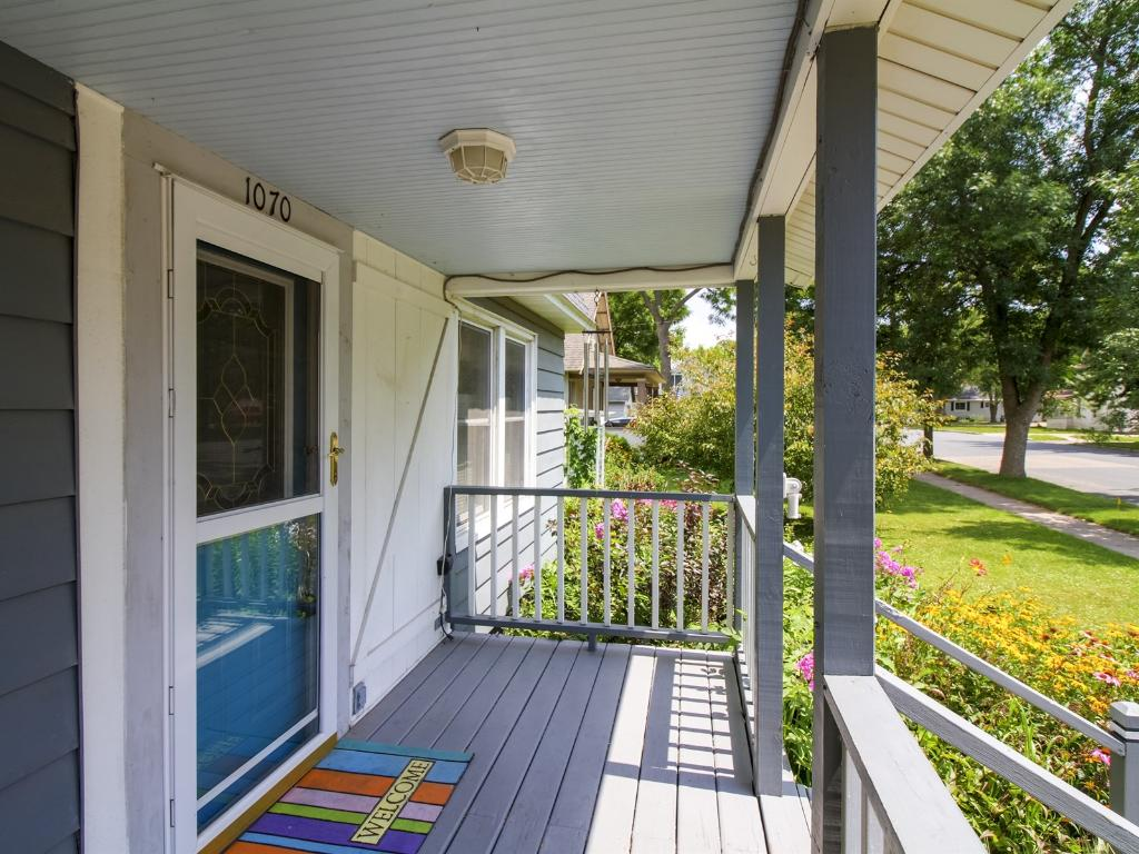 Huge front porch to help you relax.