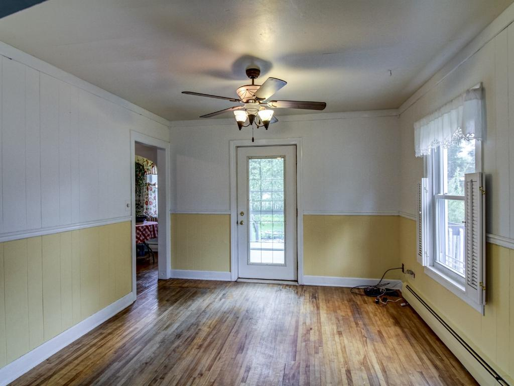 Formal dining room off of the kitchen and living room.
