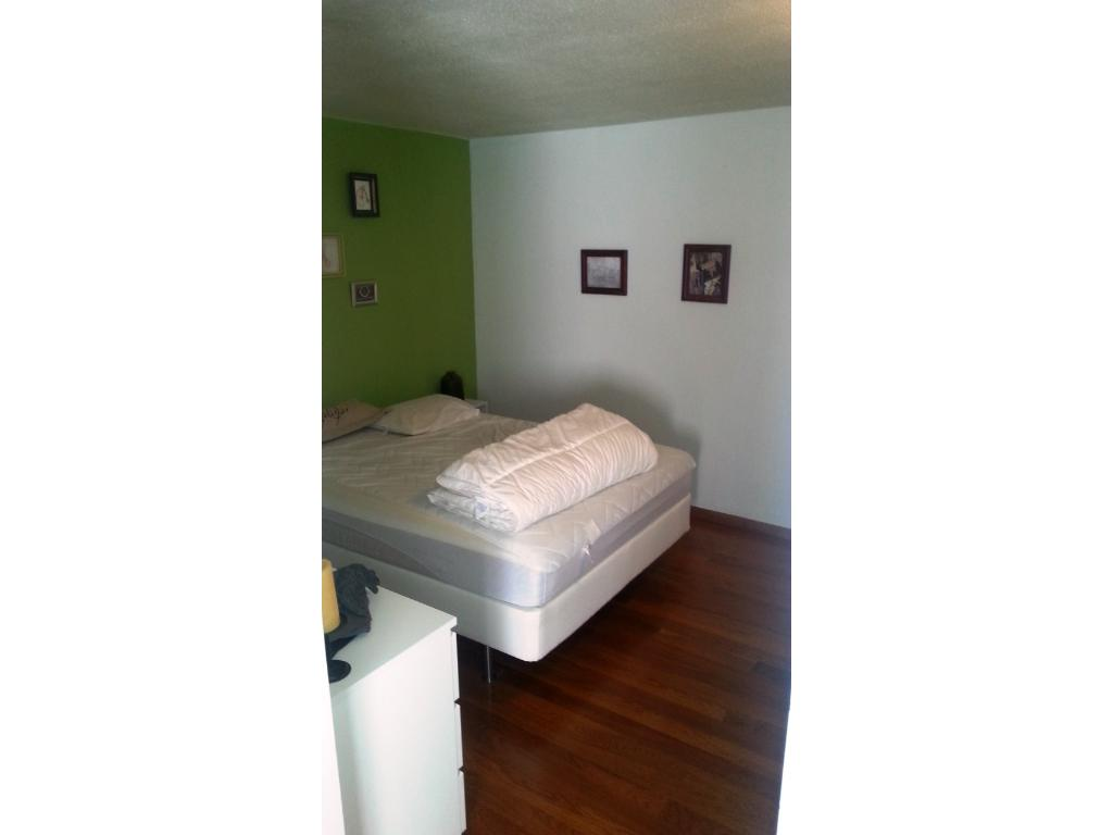 large bedroom with good sized closet and cherry floors as well