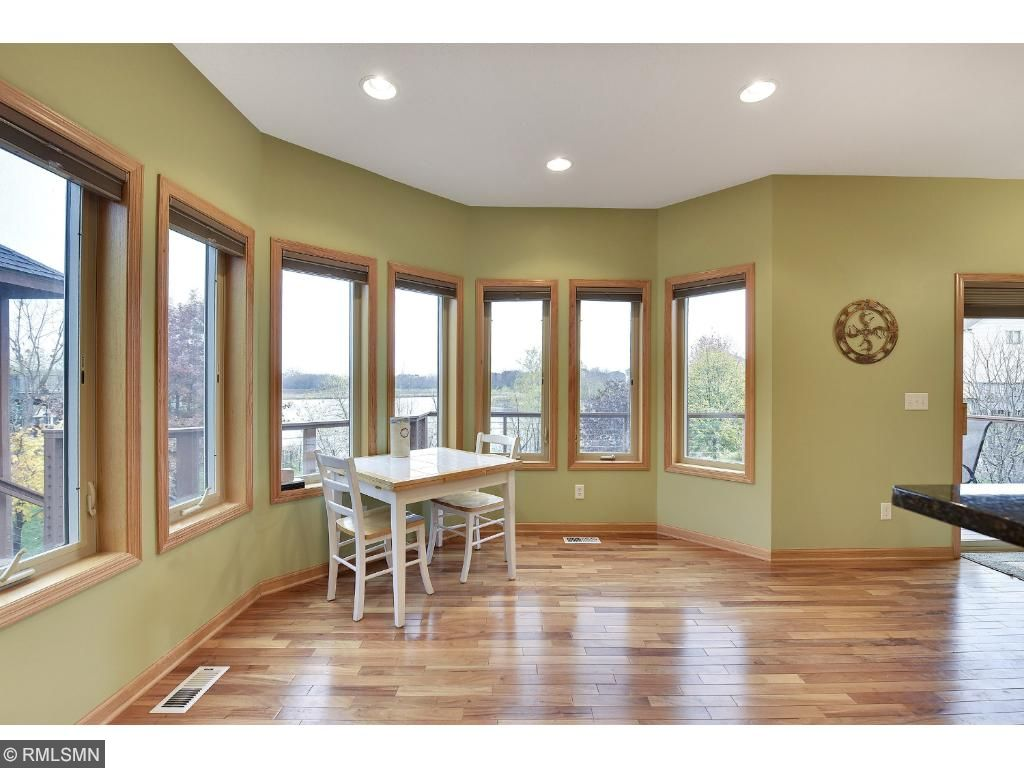 Look at all the natural light with views of the pond!