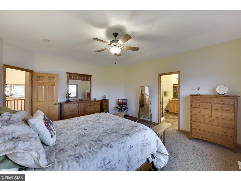 Master Suite with high ceiling, lots of light and private master bath.