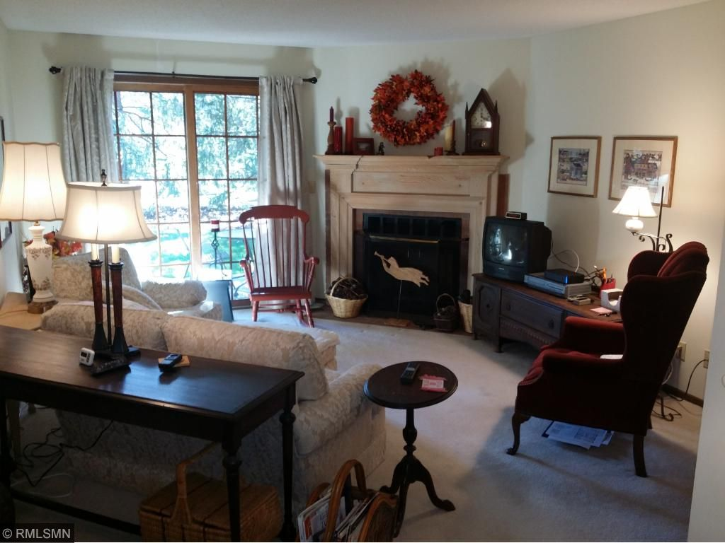 Living Room & Fireplace (wood burning)