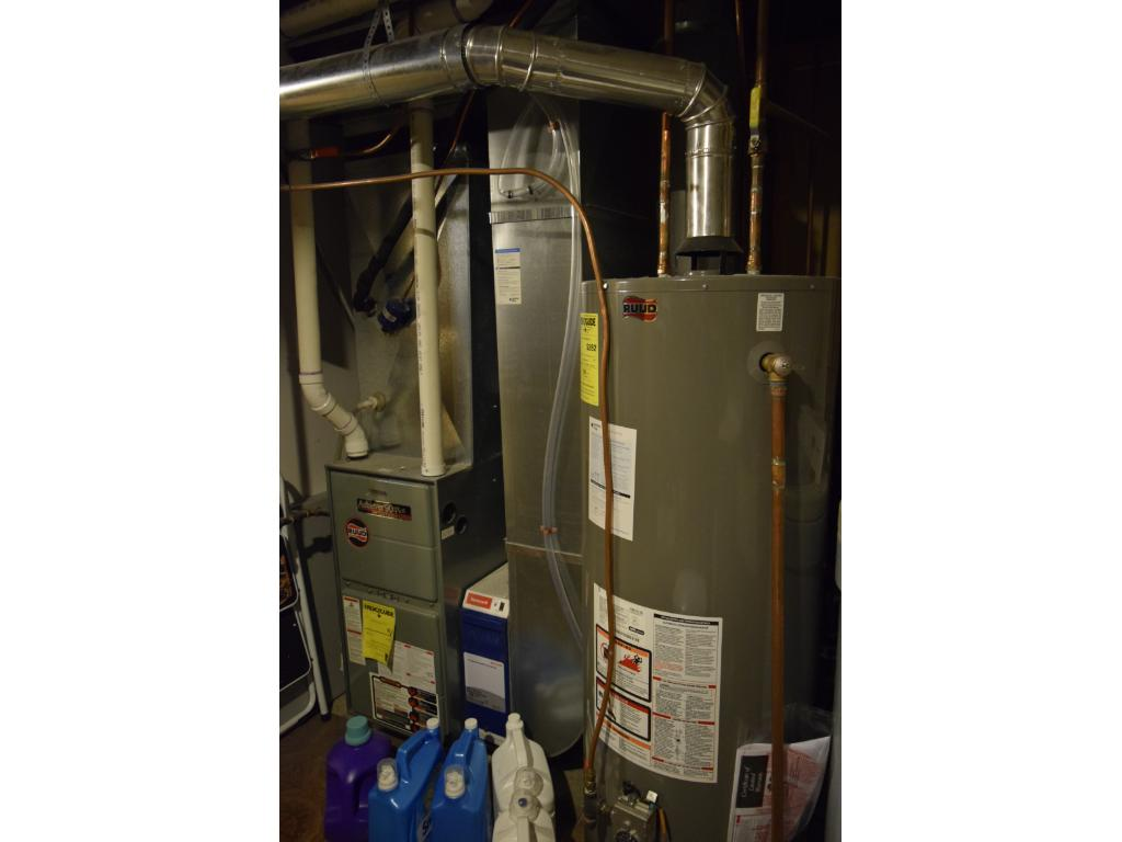Newer furnace and central air, new water heater installed, and updated 200 amp circuit breakers.