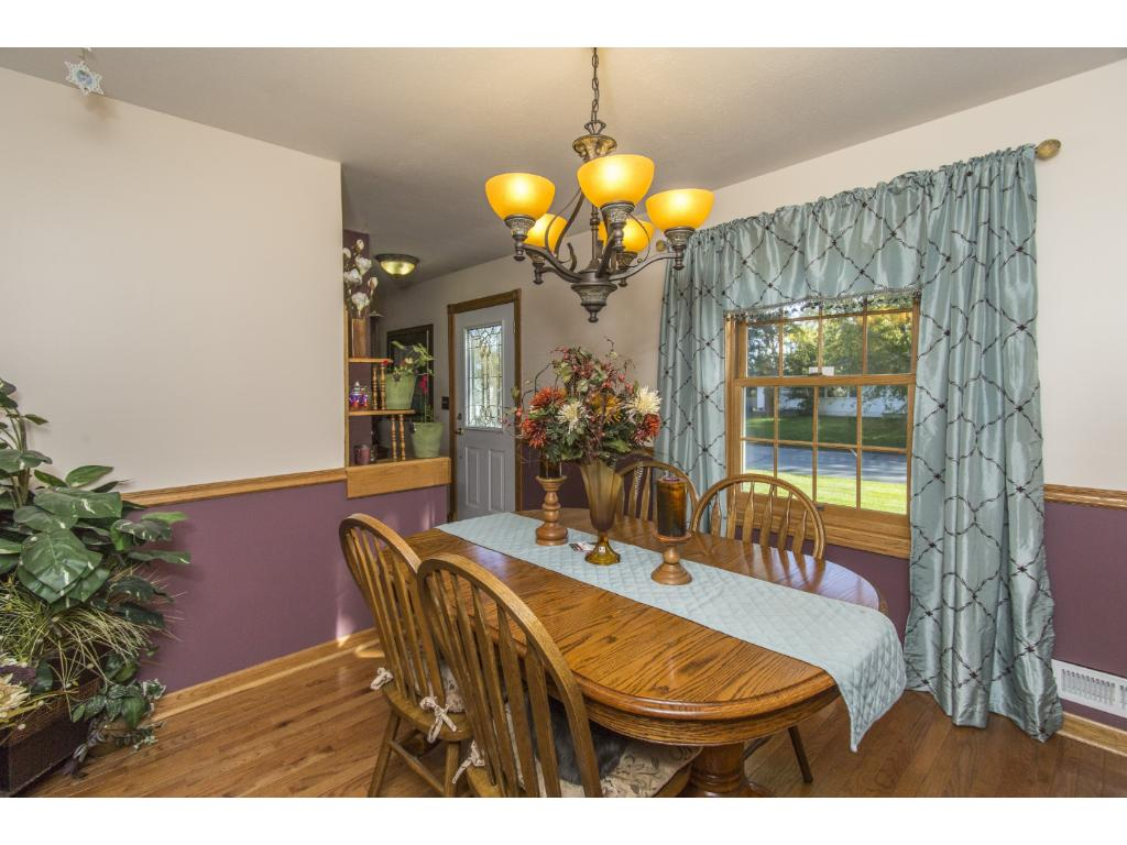 Formal dining room is ready for all your entertaining.