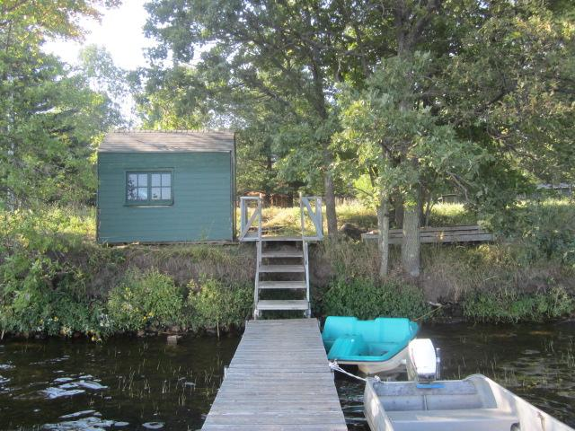 Here is a view from the dock looking back toward the property. Dock will stay with property.