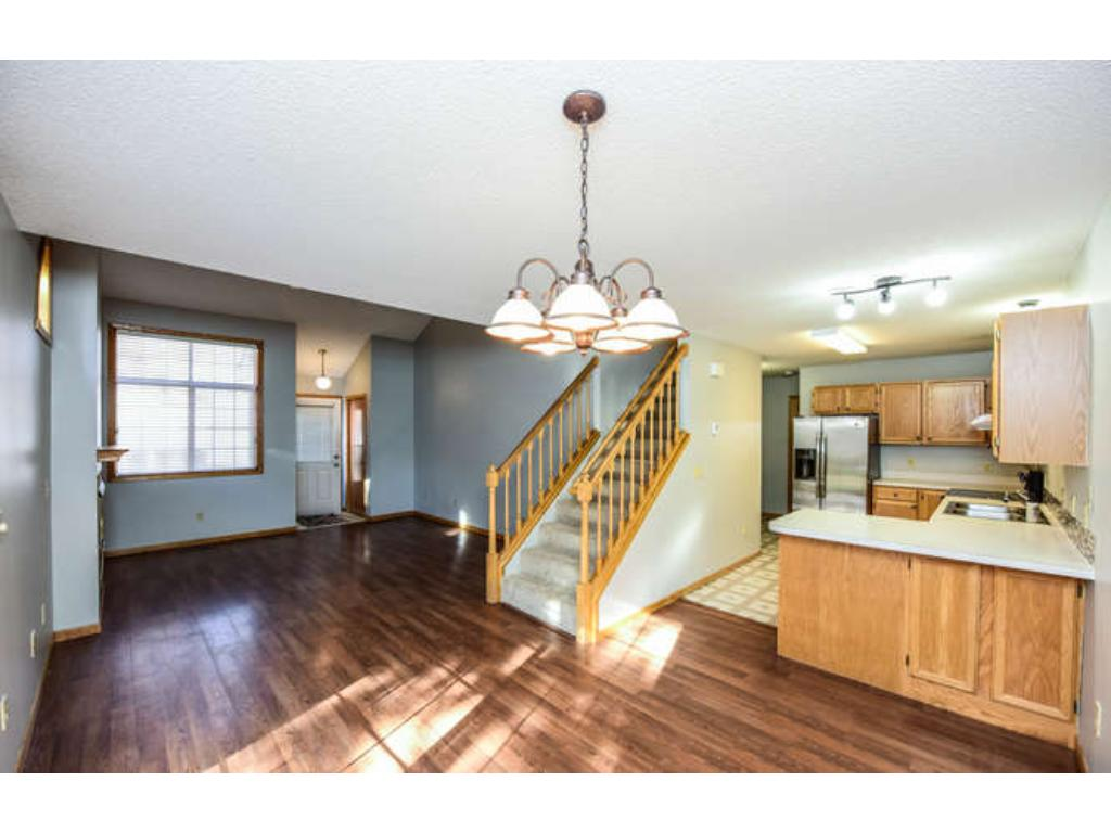 Smartly designed end unit with desirable open floor plan.