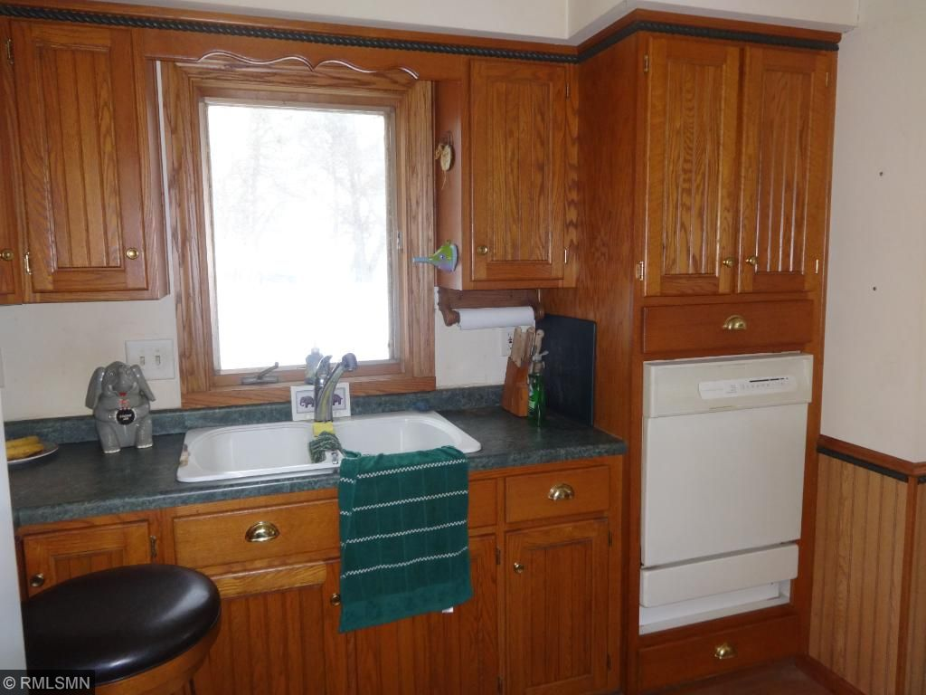 Custom cabinets and raised dishwasher