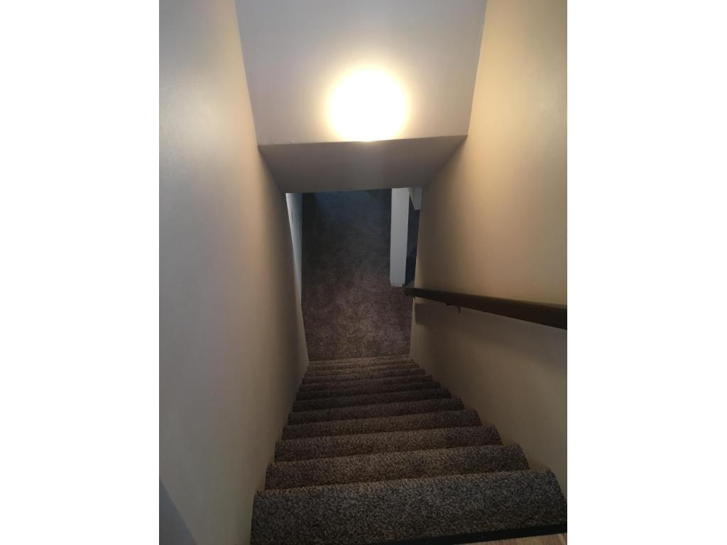 Stairway to newly completed basement