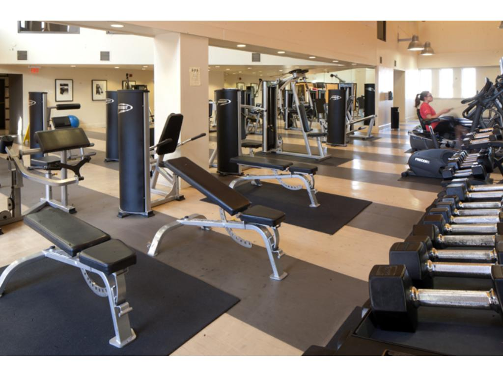 24 hour onsite health club is included