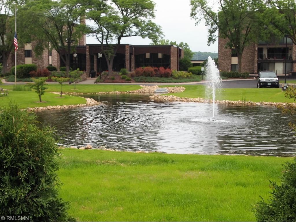 Pond and Fountain in Front