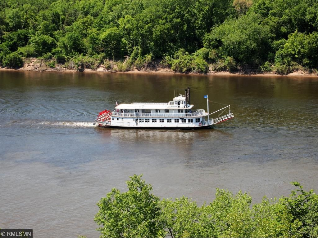 Walk the beautiful grounds and and view activity along the Mississippi and Minnesota Rivers.