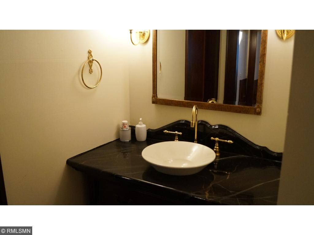 The main floor bath is also spacious and well-designed.