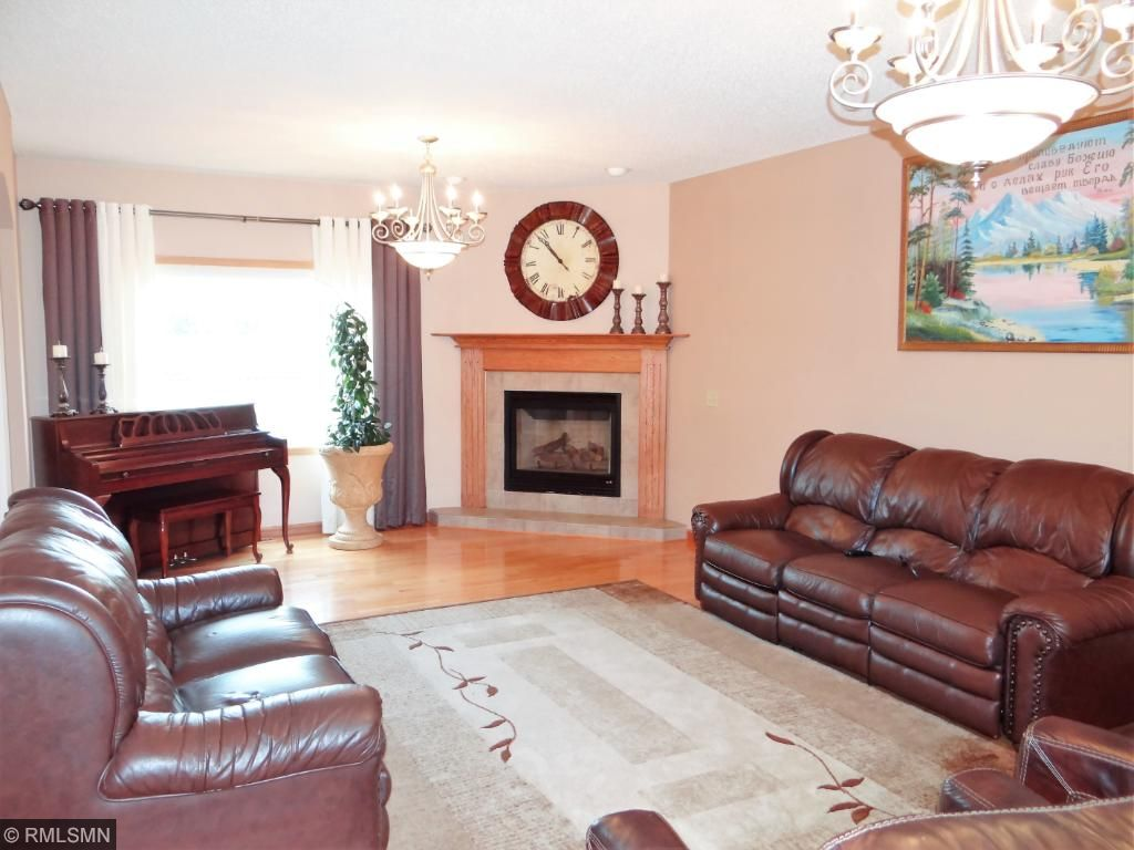 Living room includes gas fireplace.