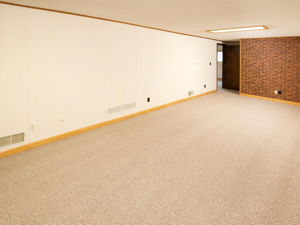 The lower level can easily be made into a family game room.  Freshly painted and carpeted!