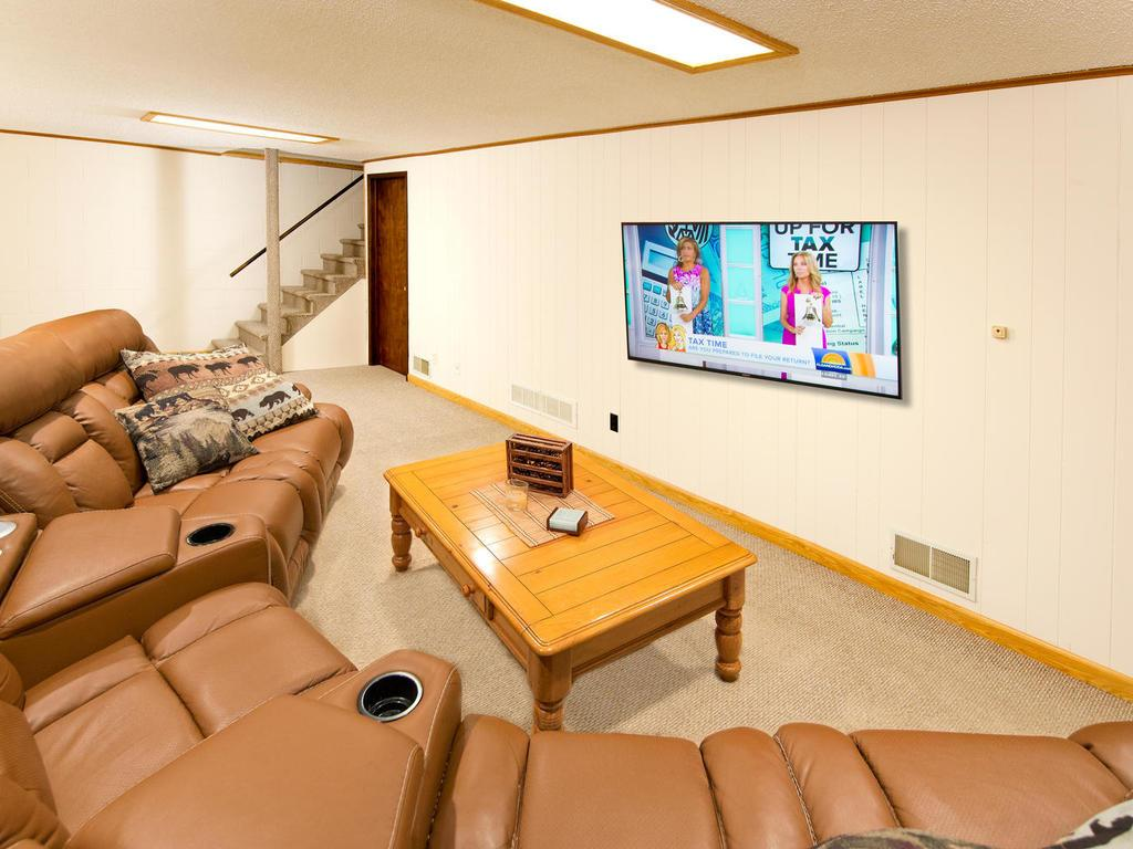 Move in your furniture and big screen for an instant family room.