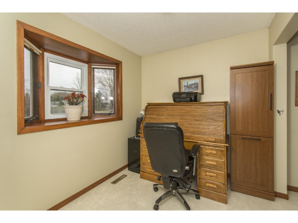 Back addition is currently being used as an office but options for this space are many. Door access to the deck from this room.