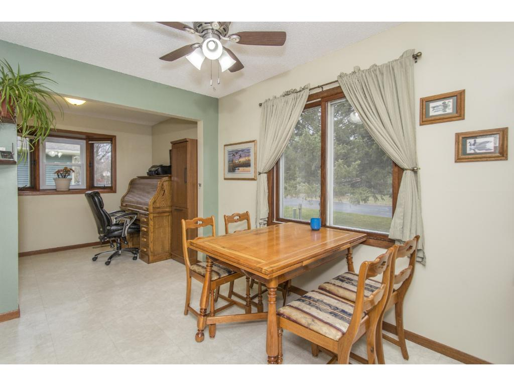 This home offers informal dining off the kitchen. Addition you see in this photo could be used as dining as well.